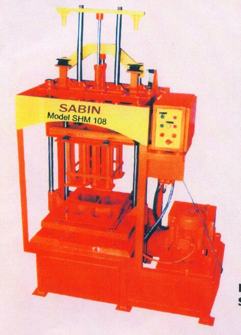 HYDRAULIC HOLLOW/SOLID & PAVING BLOCK MAKING MACHINE (SHM 108)