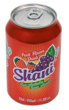 SHANI MIX RED FRUIT CARBONATED SOFT DRINK 33CL CANNED