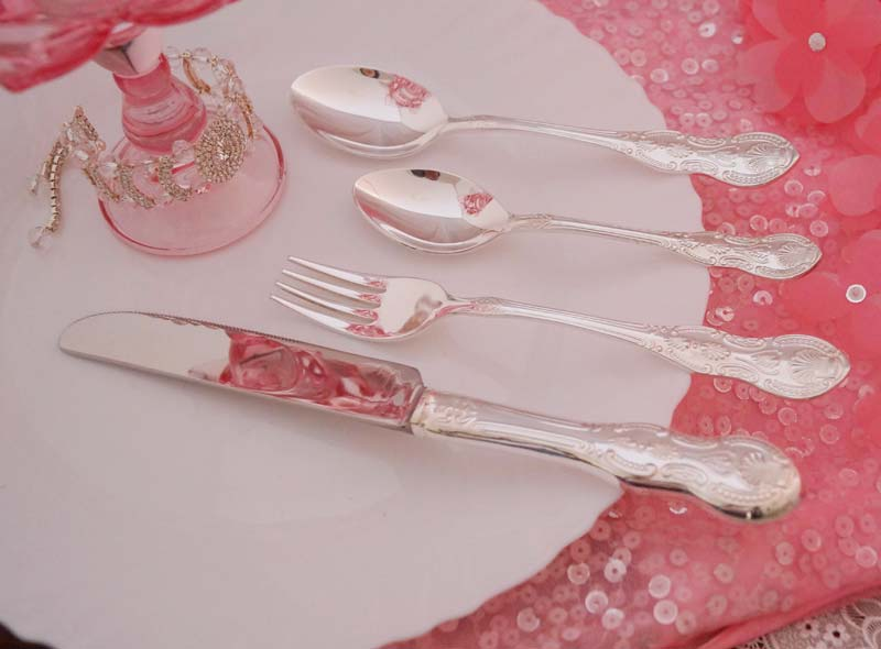 Buy Pure Silver Cutlery 24 Pcs Set From Trinity Kitchenware Ltd