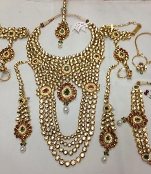 Kundan Jewelry Set: Buy Bridal Kundan Necklace Set From P S Jewellery, New