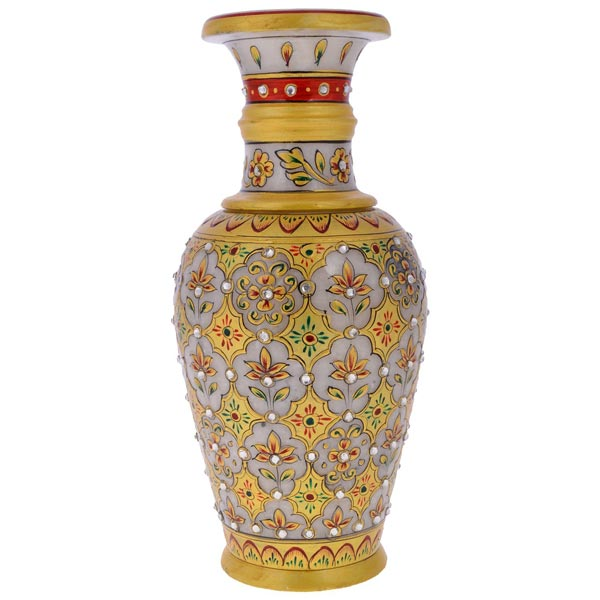 Buy Marble Flower Vase for Home Decor from Rajkruti India ID