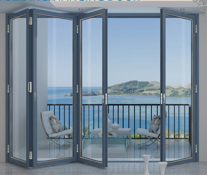 Buy aluminium folding doors from acg windows doors and for Collapsible glass wall