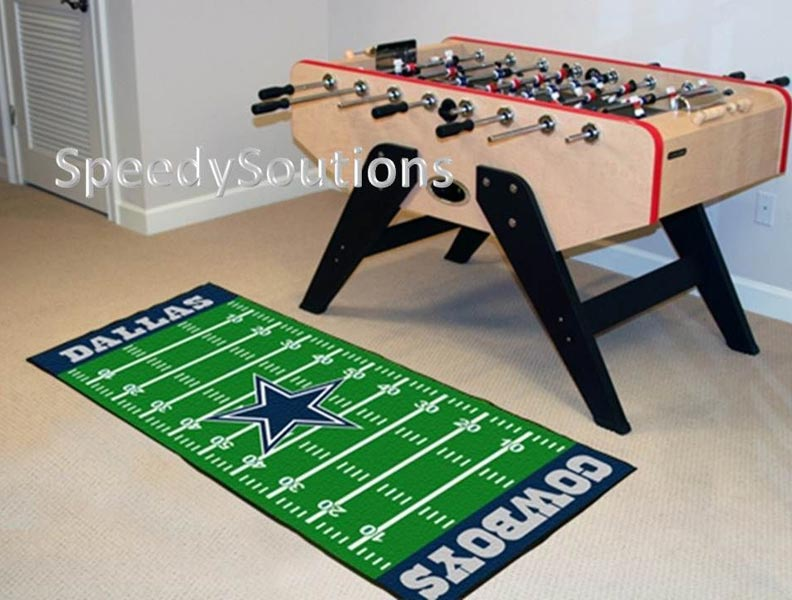 Football Field Fan Floor Mat