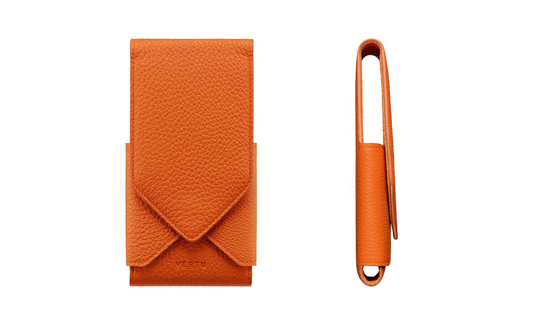Orange Leather Origami Case Manufacturer In Dubai United Arab