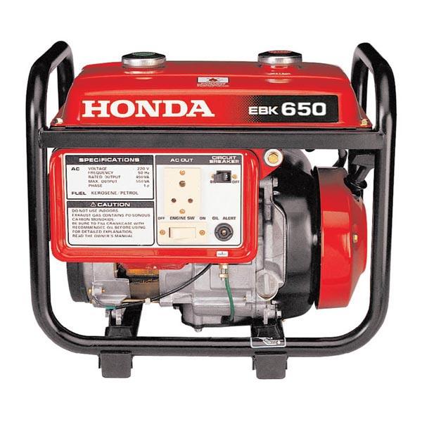 Honda kerosene generator ebk 650 manufacturer for Used motor oil generator