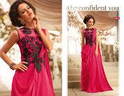 Viva N Diva Pink Color Satin Georgette Gown (1051)