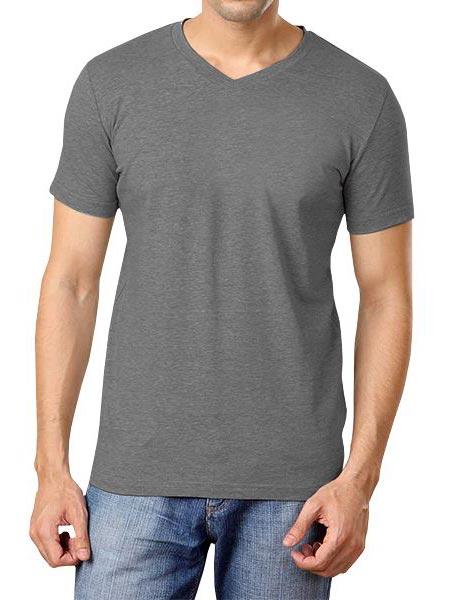 Mens Plain V Neck T-Shirts