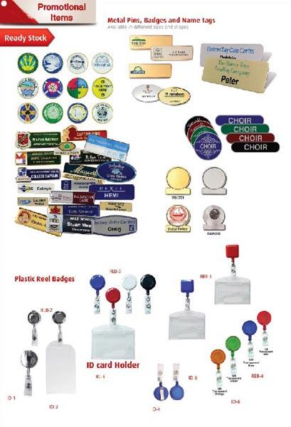 Name Badges, I D Card Holders reel badges (pg 24)