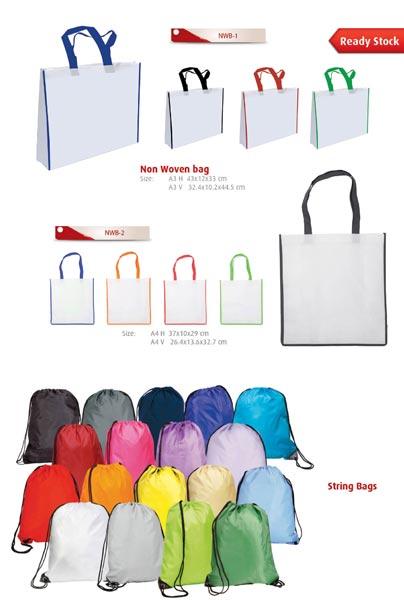 Non-woven bags, jute bags (pg23)
