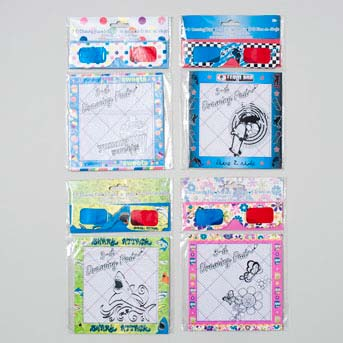 3-d Glasses with Drawing Pad 20 Sheets -6 Assorted (LI-10316)