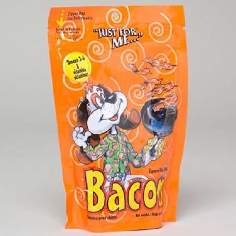Dog Treats Just for Me Bacon Flavor 6oz Zipper Bag (LI-0258)