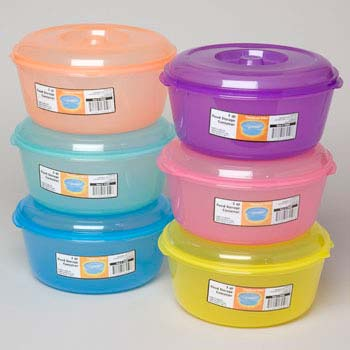 Food Storage Container with Lid 3 Qt 9d X 4 5/8h 4 Colors in Pdq (LI-13450-48)