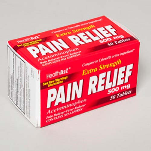 Pain Relief Acetaminophen 50 Ct Tablets (LI-1150)