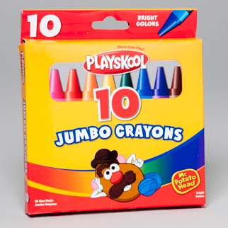 Playskool Crayons 10 Ct Jumbo Peggable Box (LI-11010)