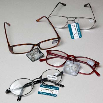 Reading Glasses 9 Asst Powers Metal/plastic Frames in 240 (LI-14005N)