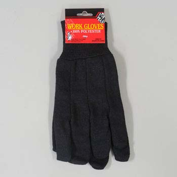 Work Gloves Brown Jersey (LI-G09316)