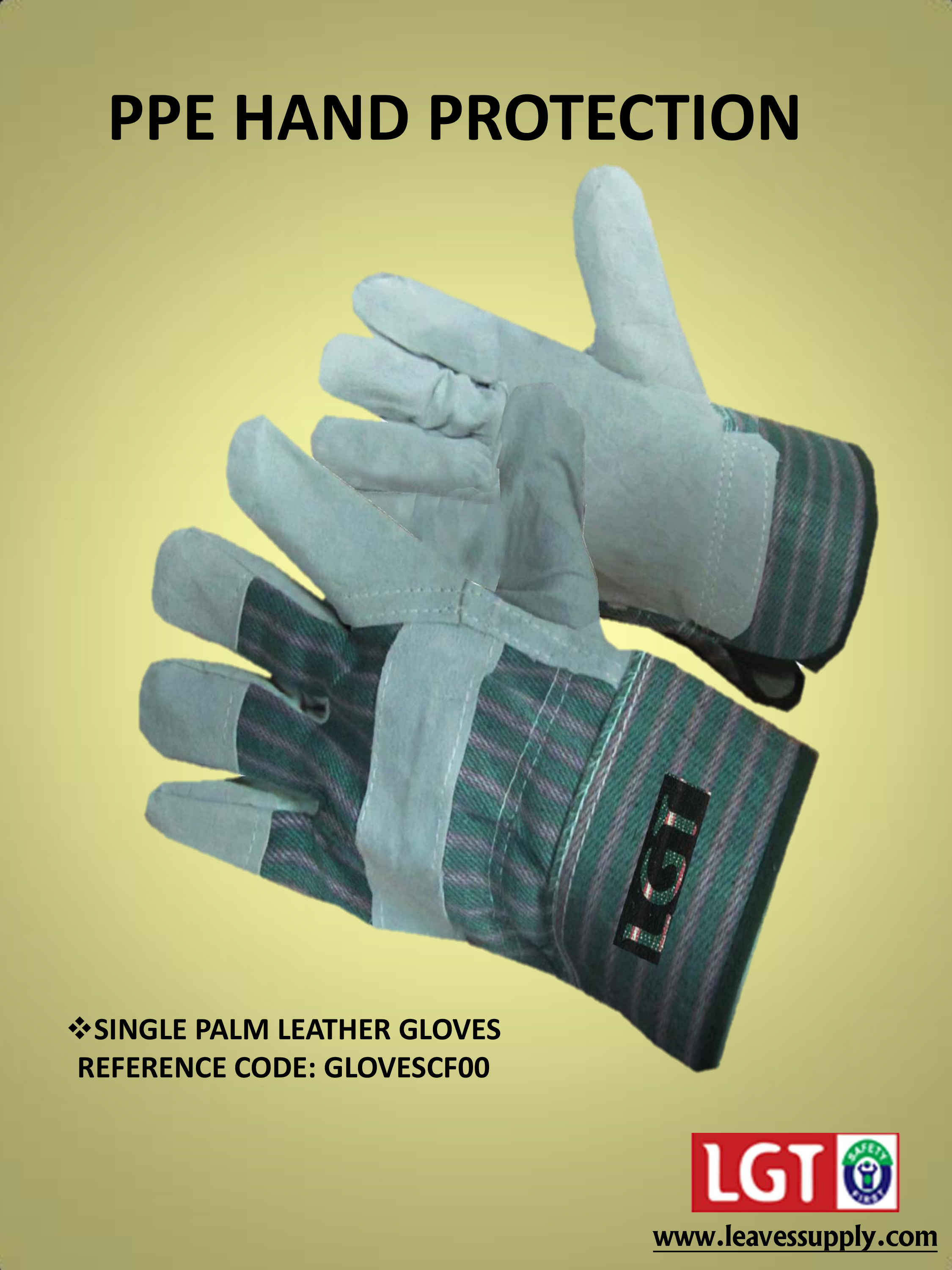 Single Palm Leather Gloves