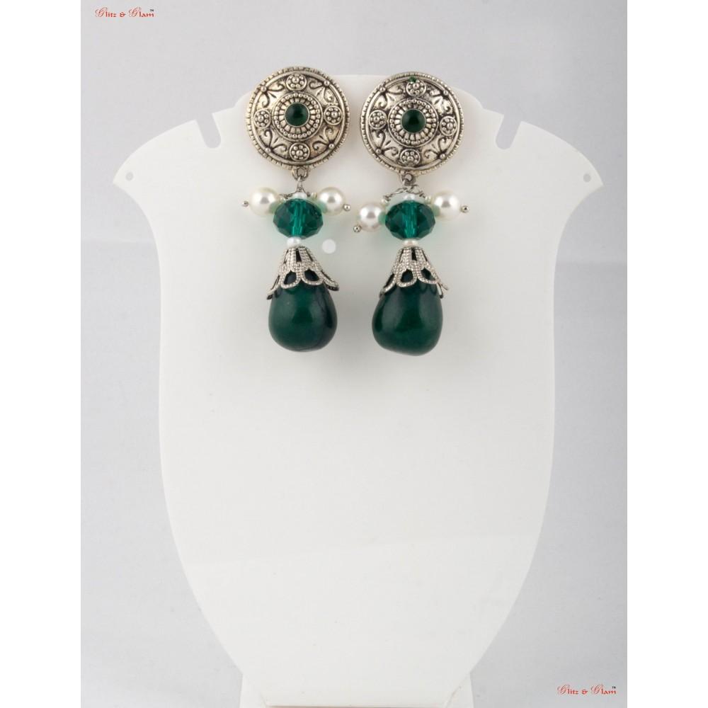 Fashion Jewellery Earrings Emerald