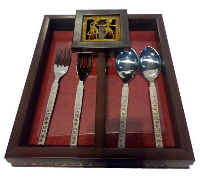 Indian Handicrafts Company Cutlery Holder Bastar Art Manufacturer
