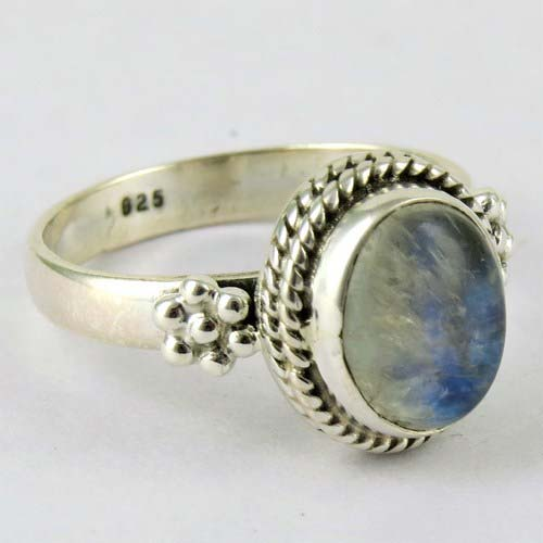Rainbow Moonstone Ring Manufacturer inJaipur Rajasthan ...