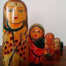 Wooden Shiv Russian Dolls