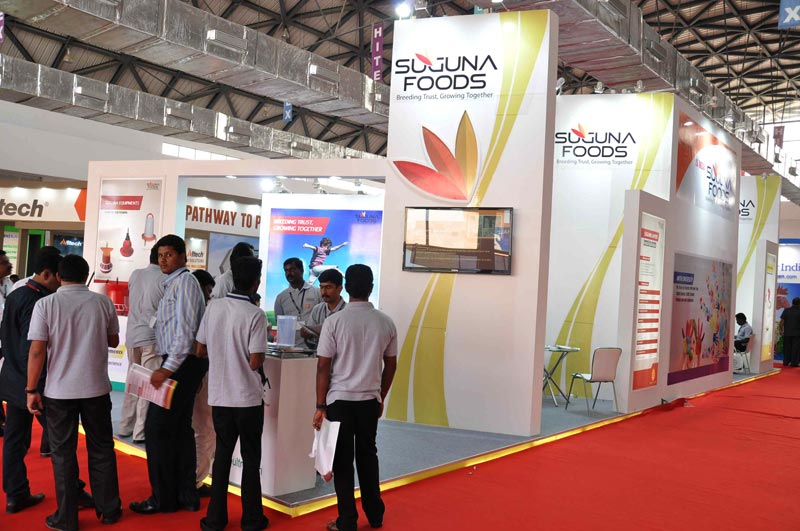 Exhibition Stall Organisers : Services octonorm stall in offered by khan exhibition