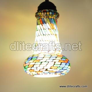 Glass Multi Color Hanging (DC20266)