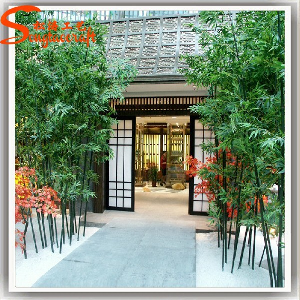 artificial green bamboo fence for decoration buy cheap.htm wholesales outdoor and indoor plastic artificial bamboo tree  indoor plastic artificial bamboo tree
