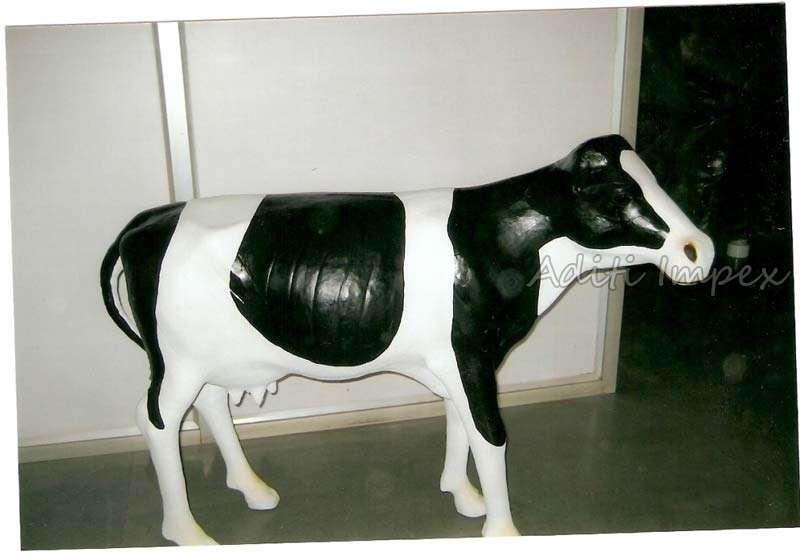 Handicraft Leather American Cow Sculpture Manufacturer In Indore