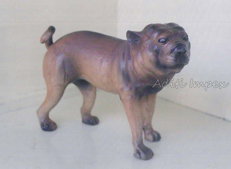 Handicraft Leather Boxer Dog Sculpture Manufacturer In Indore Madhya