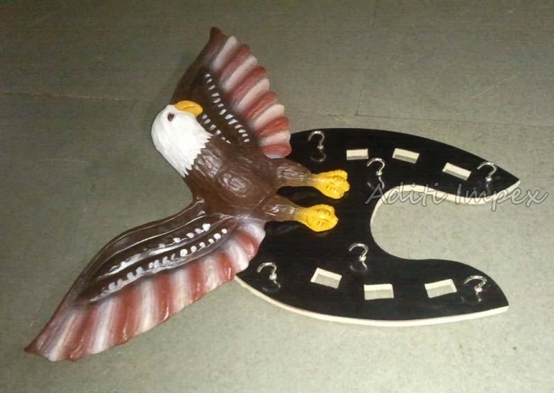 Handicraft Leather Eagle Key Holder Sculpture Manufacturer In Indore