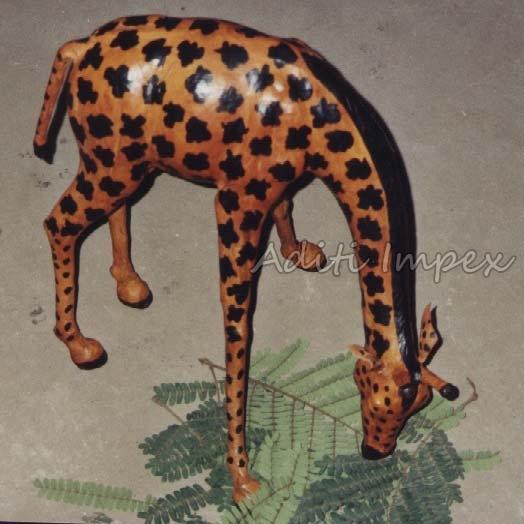 Handicraft Leather Giraffe Sculpture Manufacturer In Indore Madhya