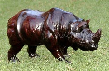 Handicraft Leather Rhino Sculpture Manufacturer In Indore Madhya