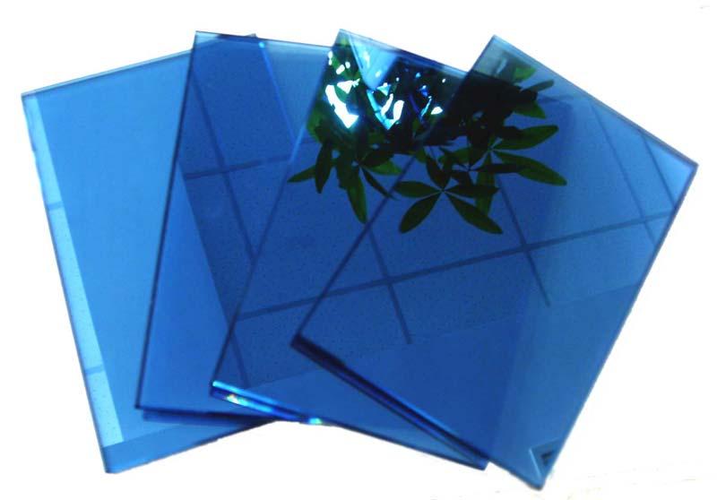Dark Blue Reflective Glass