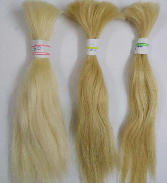 Blonde Remy Hair Extensions Manufacturer In Delhi India By Riddhi