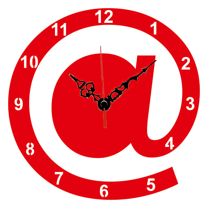 Buy Laser Cut Internet Symbol Designer Wall Clock Lasercraftstore