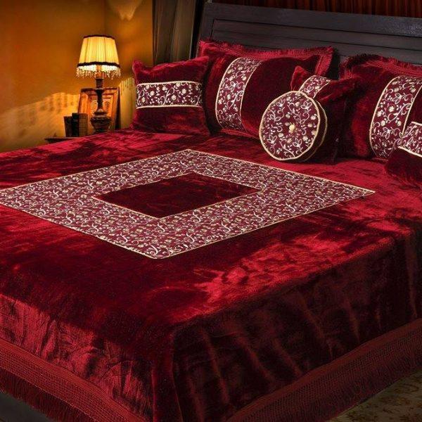 Velvet Double Bed Sheets