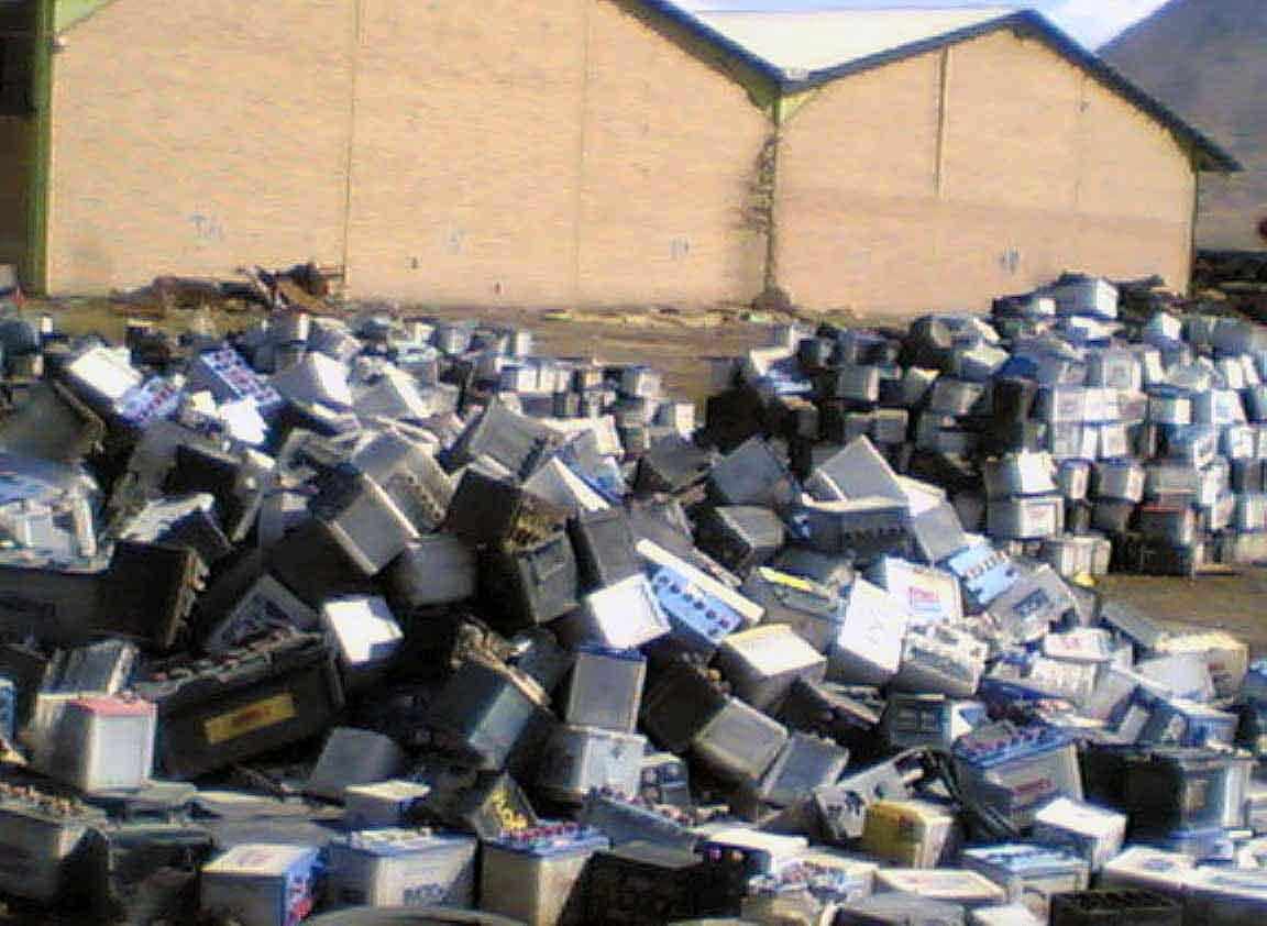 Drained Car and Truck Battery Scrap