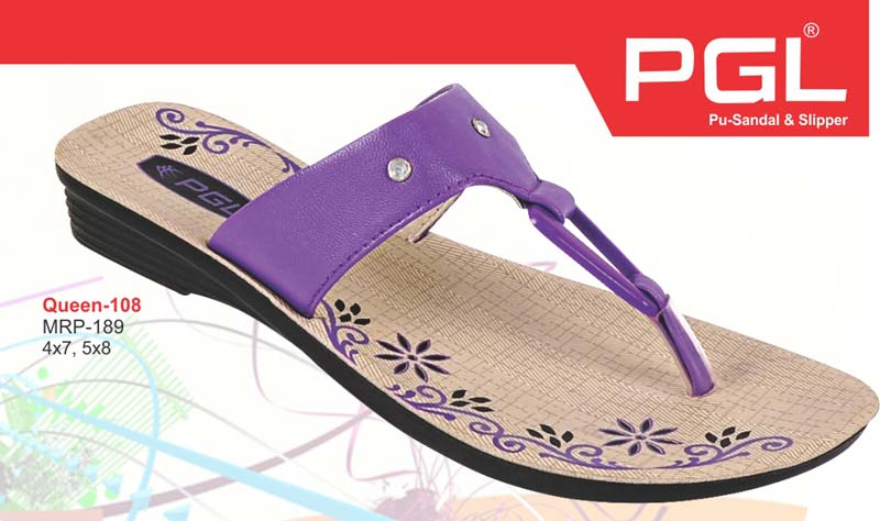 9cf652cbeac Buy Ladies PU Queen Slippers from Shiv Shakti Plastic