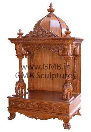 Wooden Temple Manufacturer Offered By Gita Murti Bhandar