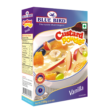 Custard Powder Manufacturer in Maharashtra India by Blue Bird Food
