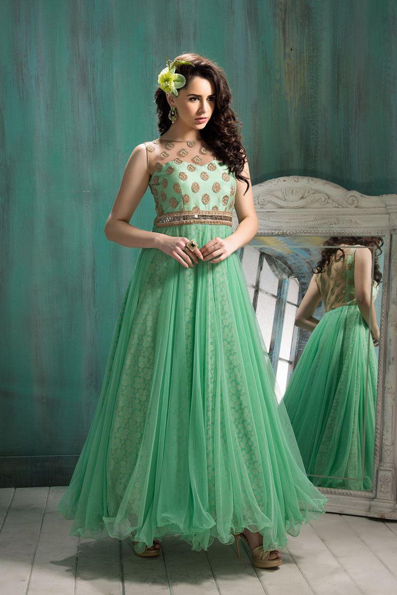 986cf290c4 Patel Marketers Royal C green soft net desiner salwar suit pm-19 (pm-19)