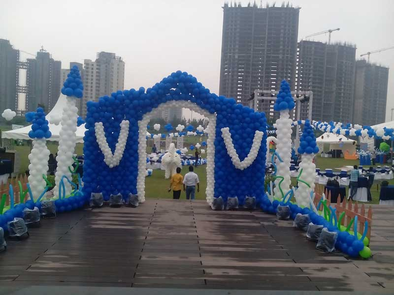 Services balloon decoration in jaipur from rajasthan for Balloon decoration in bangalore