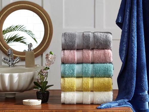 Printed Border Bath Towels