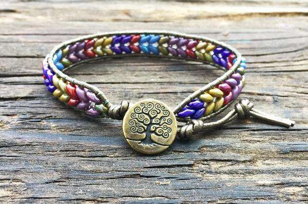 Leather Wrap Bracelet From Beads