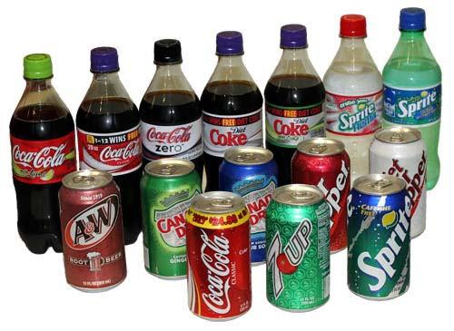 Mirinda, Sprite, Coke, Fanta, Lipton Ice Tea, Pepsi, Cola
