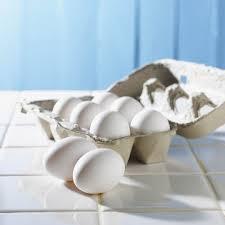 White Eating Eggs