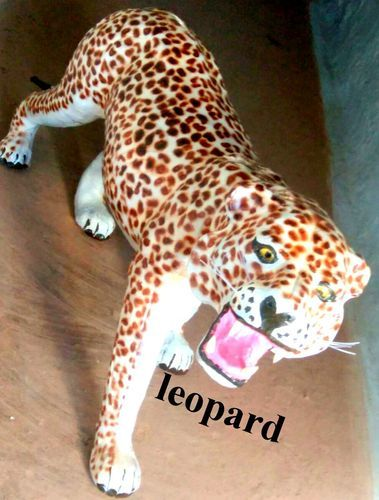 Leather Handicraft Leopard Statues Manufacturer In Indore Madhya