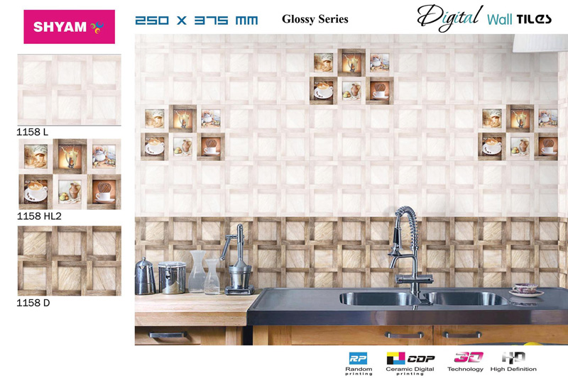 Ivory Kitchen Tiles-1158 Manufacturer in Gujarat India by Shyam ...