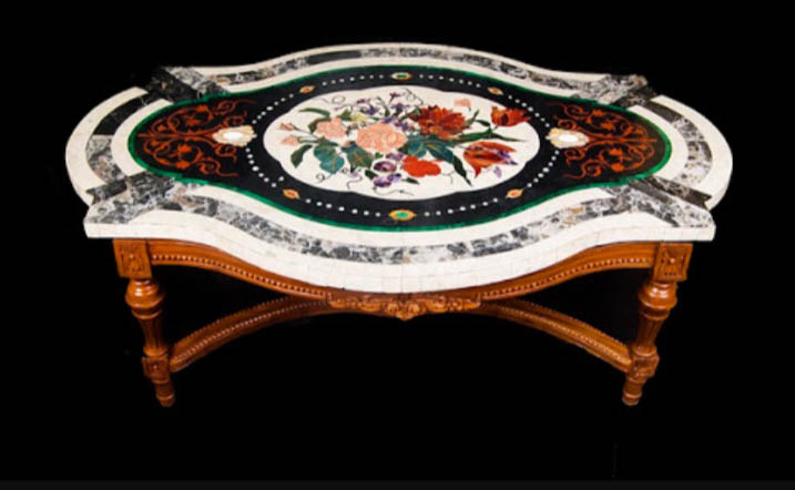 Super Oval Marble Inlay Table Top Manufacturer In Agra Uttar Download Free Architecture Designs Scobabritishbridgeorg